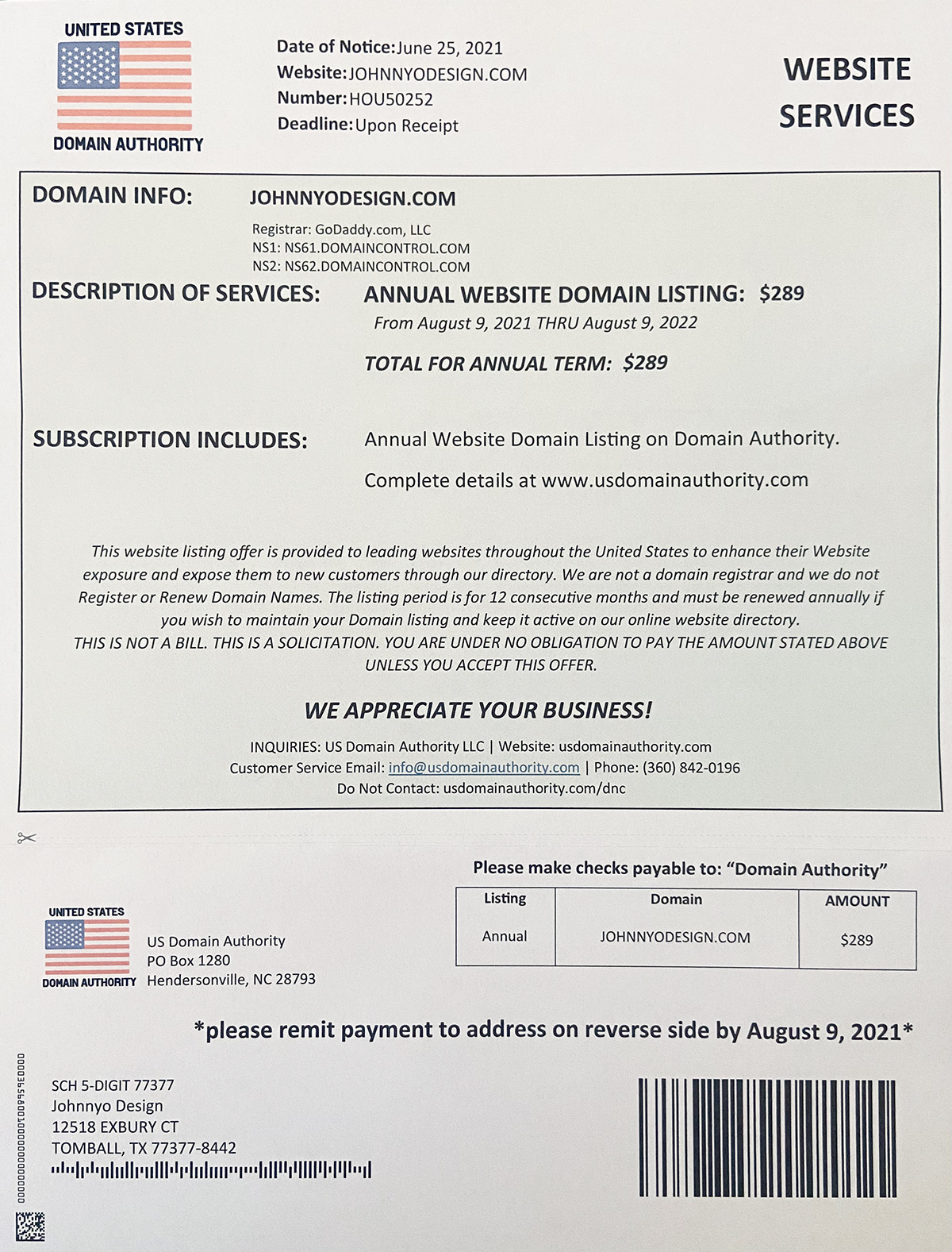 US Domain Authority